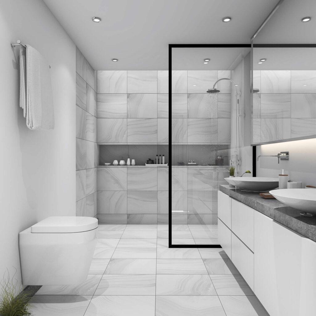 QBuild Bathroom design & installation in Exeter