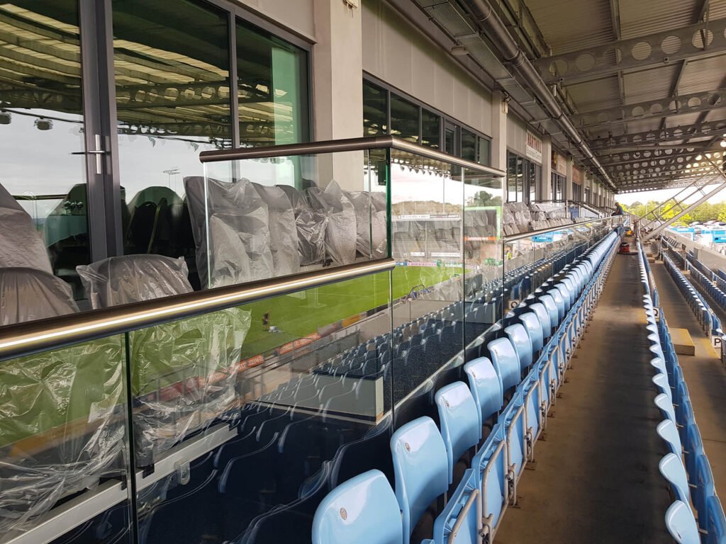 QBuild Commercial Balustrade Exeter Chiefs Rugby Stadium