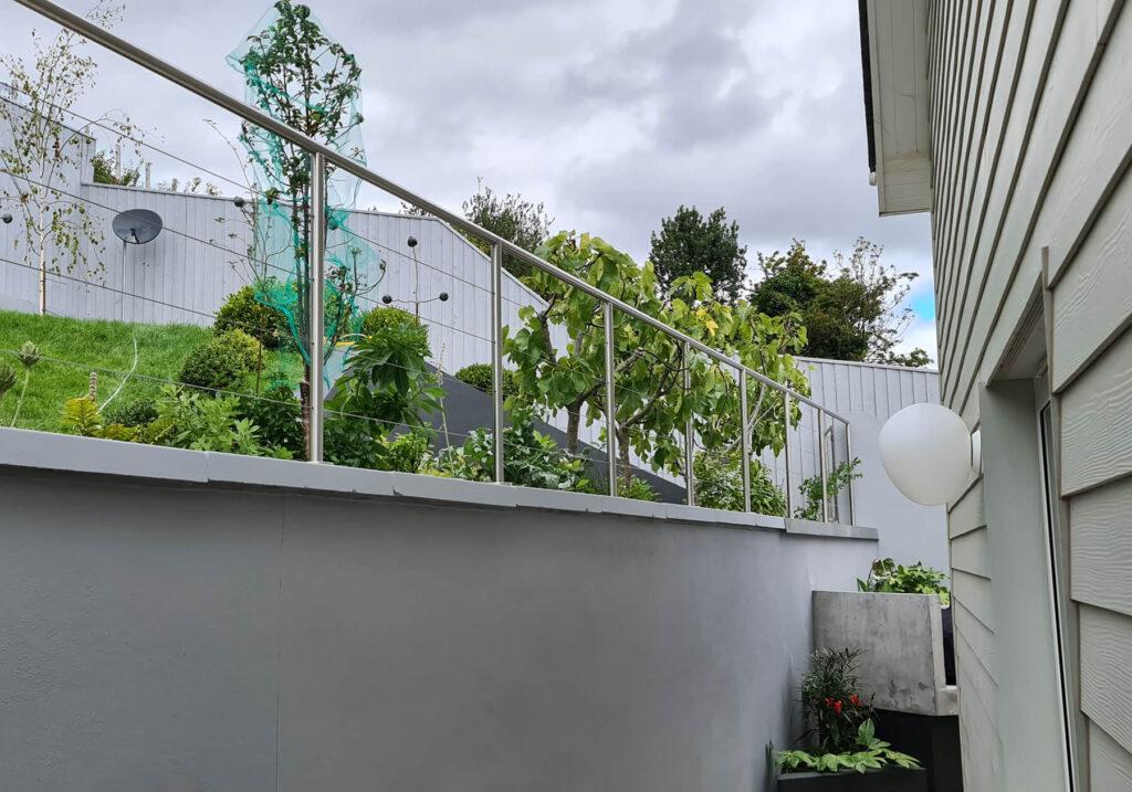 QBuild External Garden Steel Handrail Balustrade build in Exeter