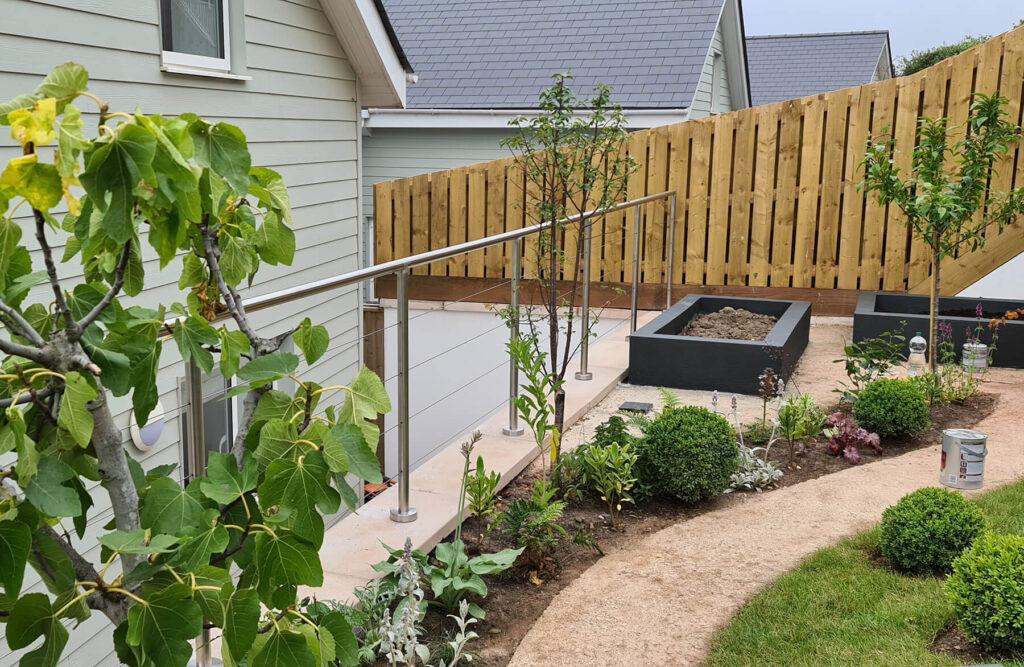 QBuild External Garden Steel Handrail & Balustrade build in Exeter