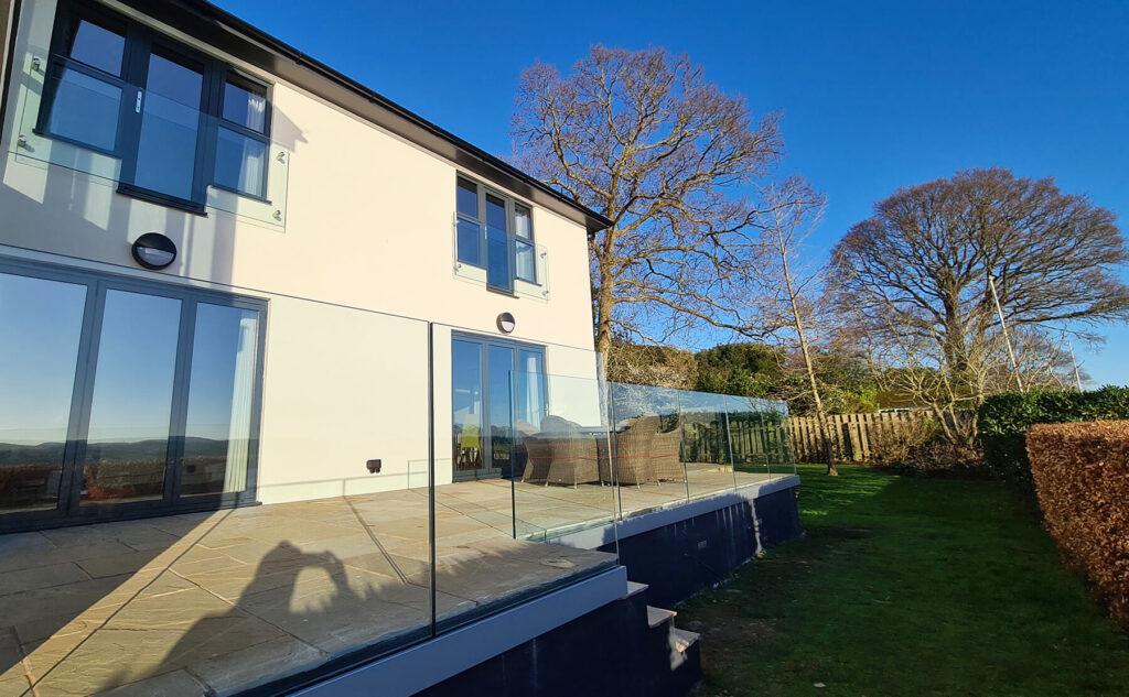 QBuild External Glass Balustrade & patio Balustrade builder in Exeter