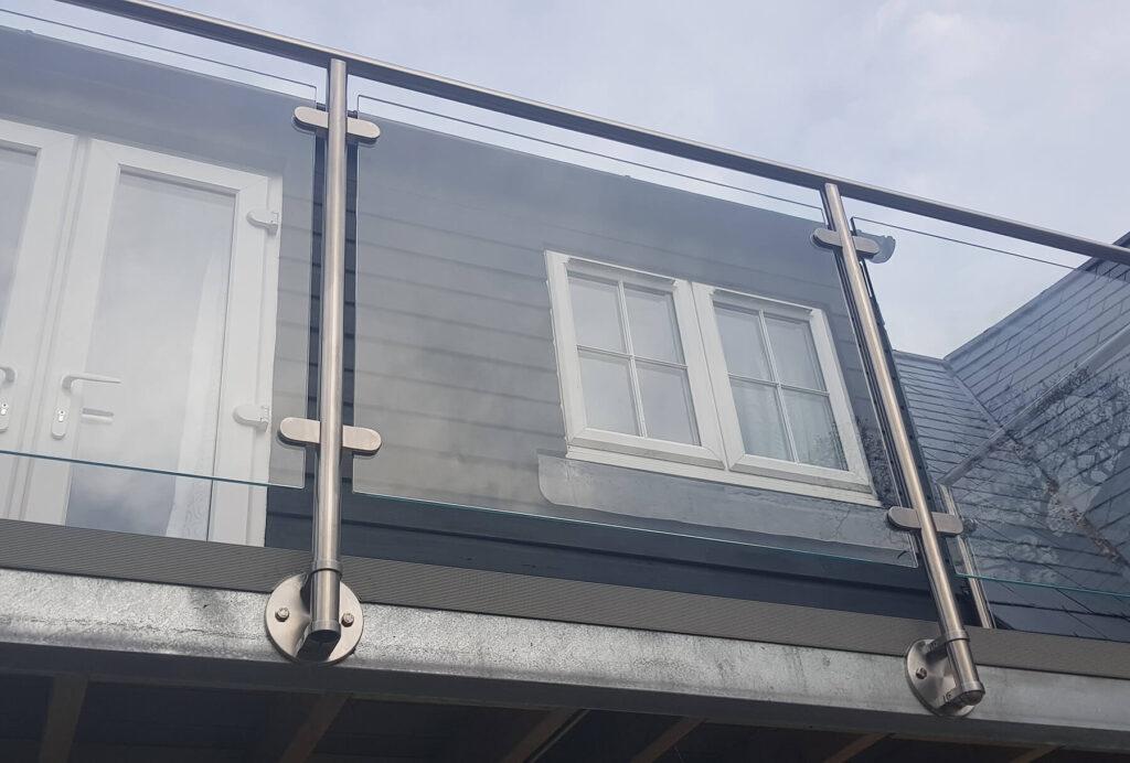 QBuild External Glass Juliet Balcony Balustrade build in Exeter
