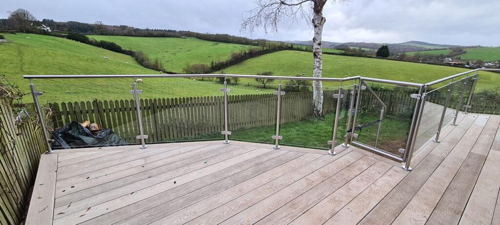QBuild External Glass & Steel Balustrade & Decking builder on outskirts of Exeter