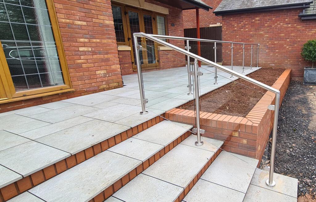 QBuild External Glass & Steel steps Balustrade builder in Exeter