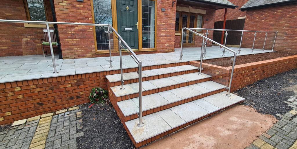 QBuild External Glass & Steel steps patio Balustrade builder in Exeter