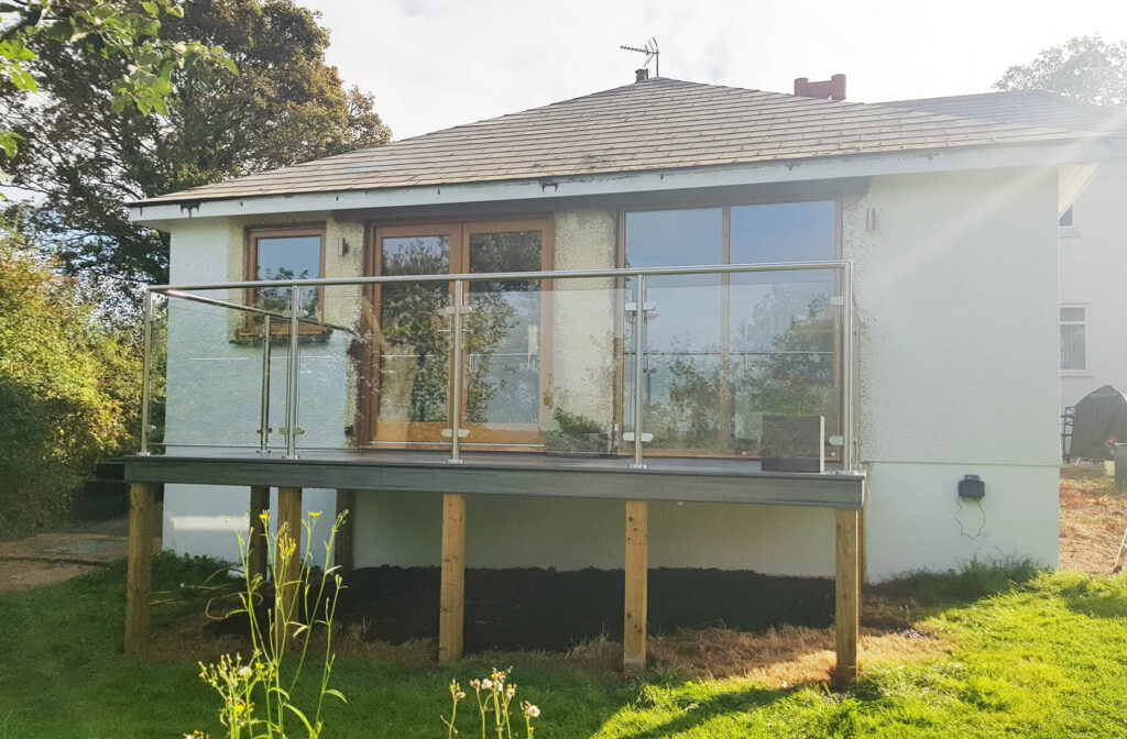 QBuild External Steel & Glass Balustrade Balcony build in Exeter