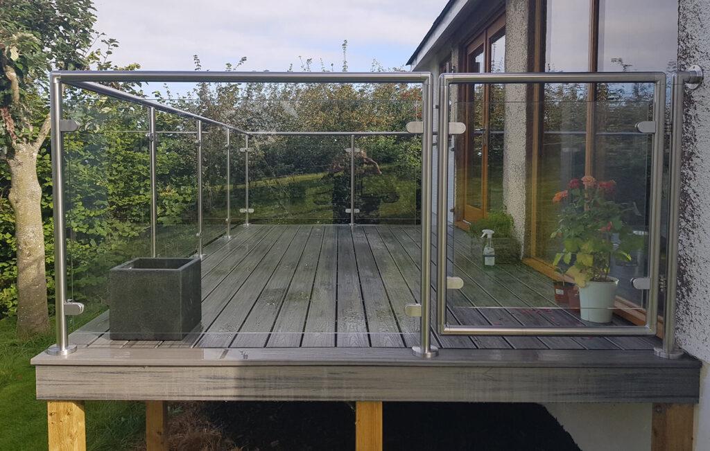 QBuild External Steel & Glass Balustrade Balcony builder in Exeter