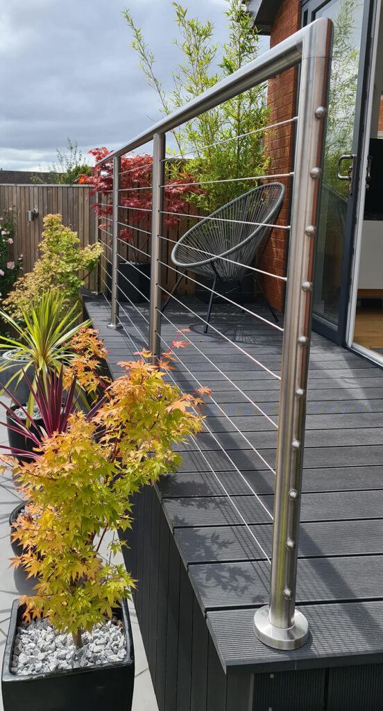 QBuild External Steel Handrail Balustrade build in Exeter