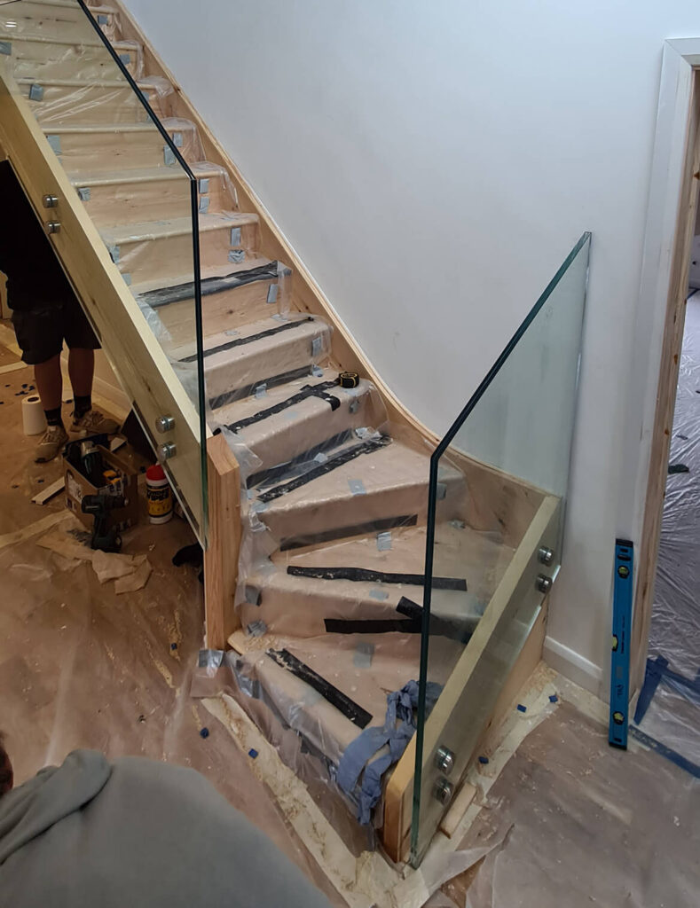 QBuild Internal Staircase & handrail Balustrade build in Exeter