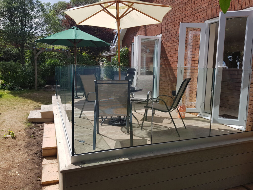 QBuild Patios and landscape in Exeter with Balustrades