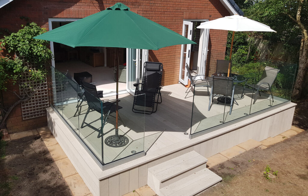 QBuild Stone Patios and landscaping in Exeter with Balustrades