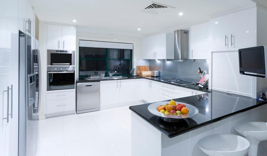 QBuild clean modern kitchen design, build & installation in Exeter, Devon