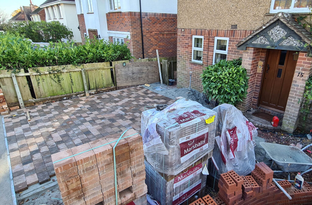 QBuild driveway with blocked Paving build Exeter
