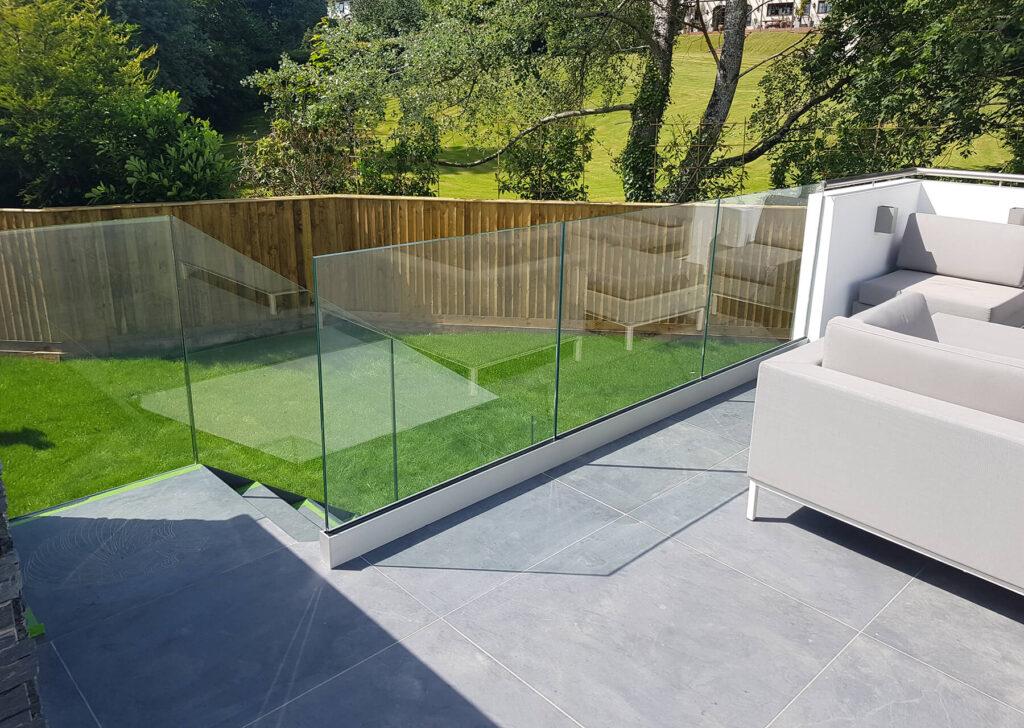 QBuild outdoor landscaping Glass Balustrade builder in Exeter